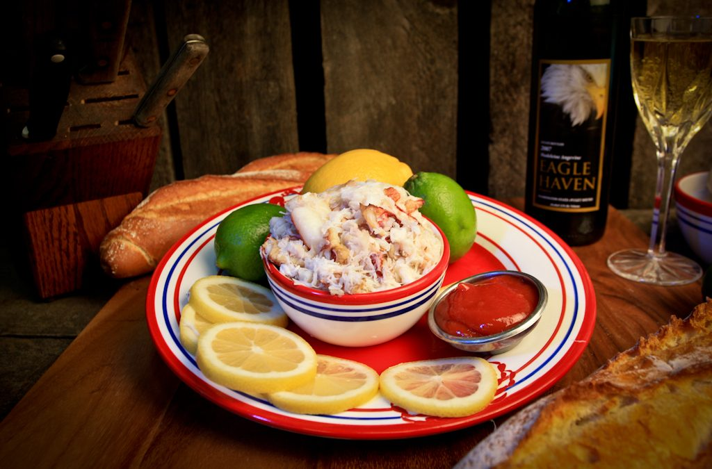 Hand picked Dungeness Crab meat